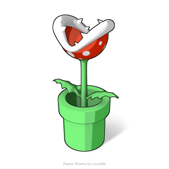 Plante piranha cartoon 3d by lucasrib on deviantart for Plante mario