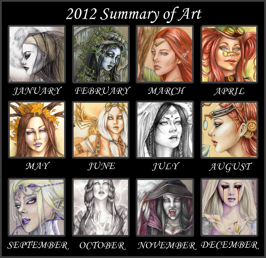 Rossana Castellino - Summary of Art 2012 by RossanaCastellino