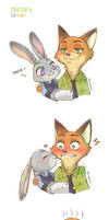 Fanart: Judy and Nick (Zootopia)