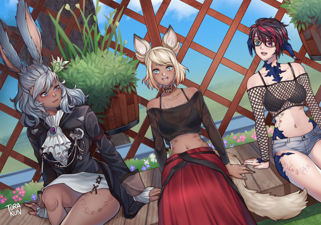 FFXIV Pinup Commission