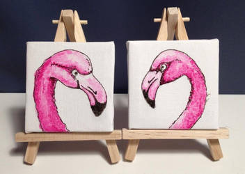 Flamingos 7x7cm by PokeponyAquaBubbles