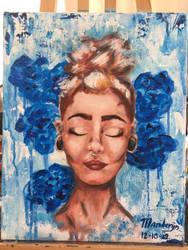 Surrealism portrait painting