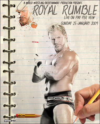 WWE Royal Rumble 2009 poster by Y2JGFX