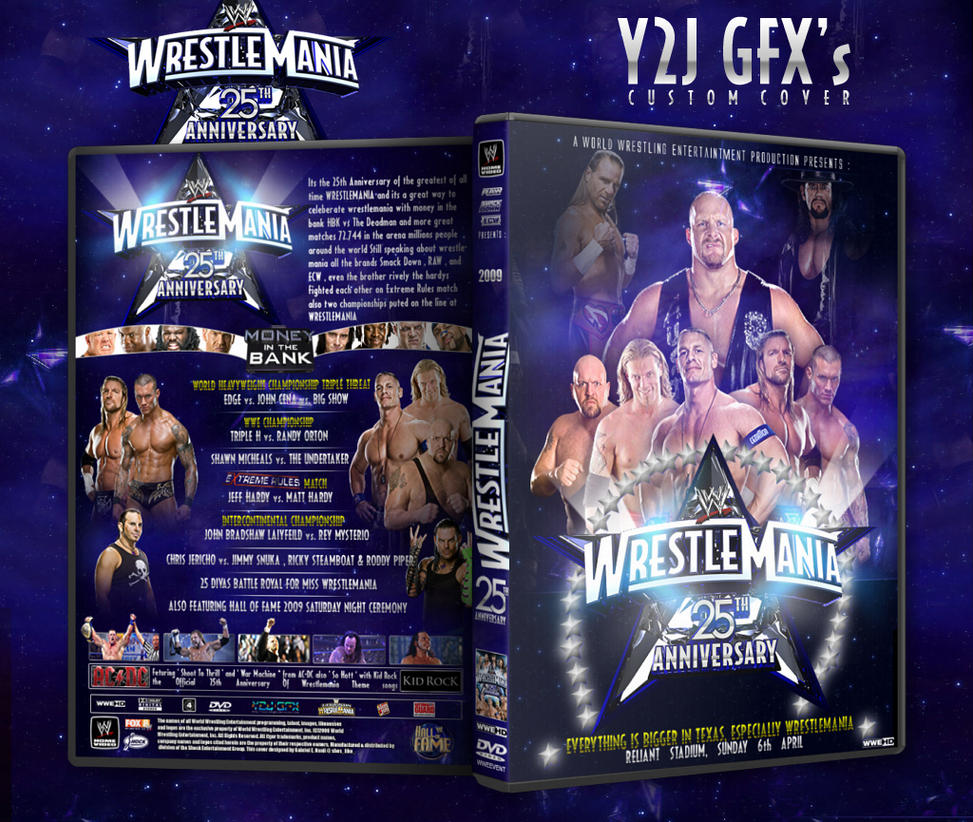 Wrestlemania 25 Custom Cover by Y2JGFX