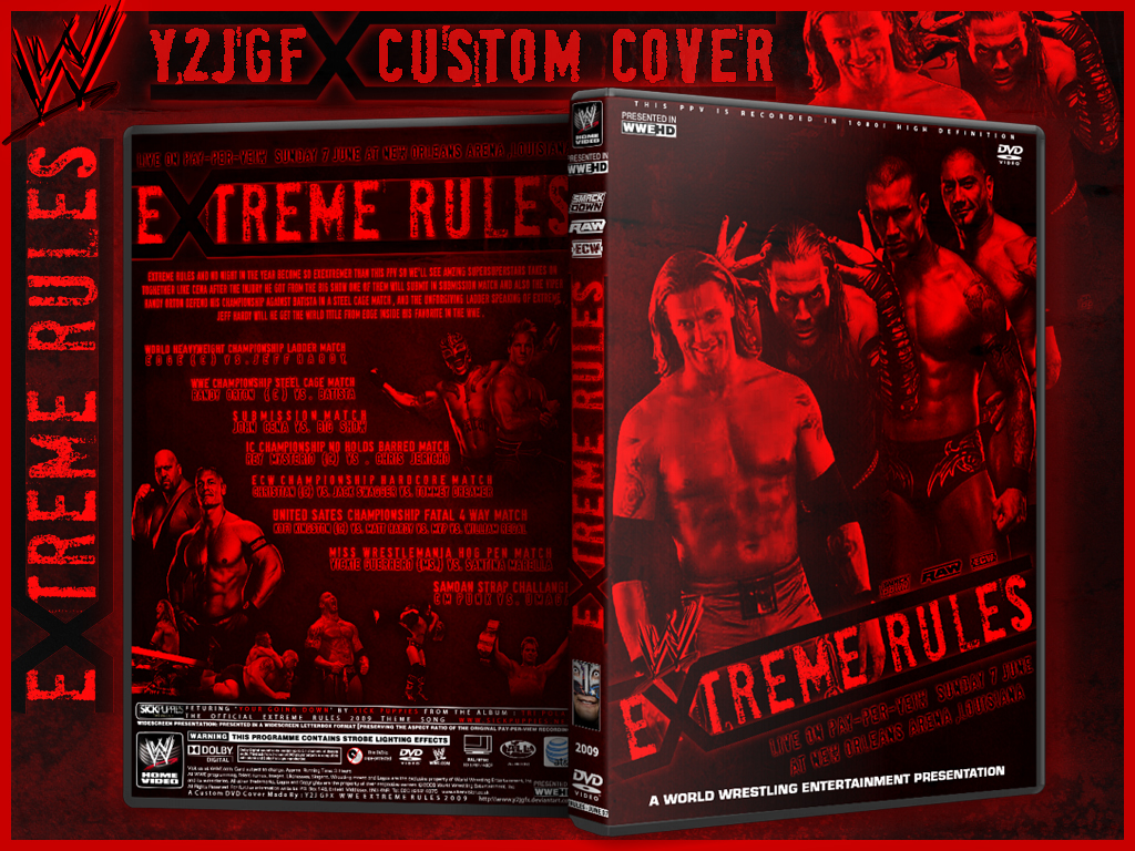 EXTREME RULES CUSTOM COVER by Y2JGFX