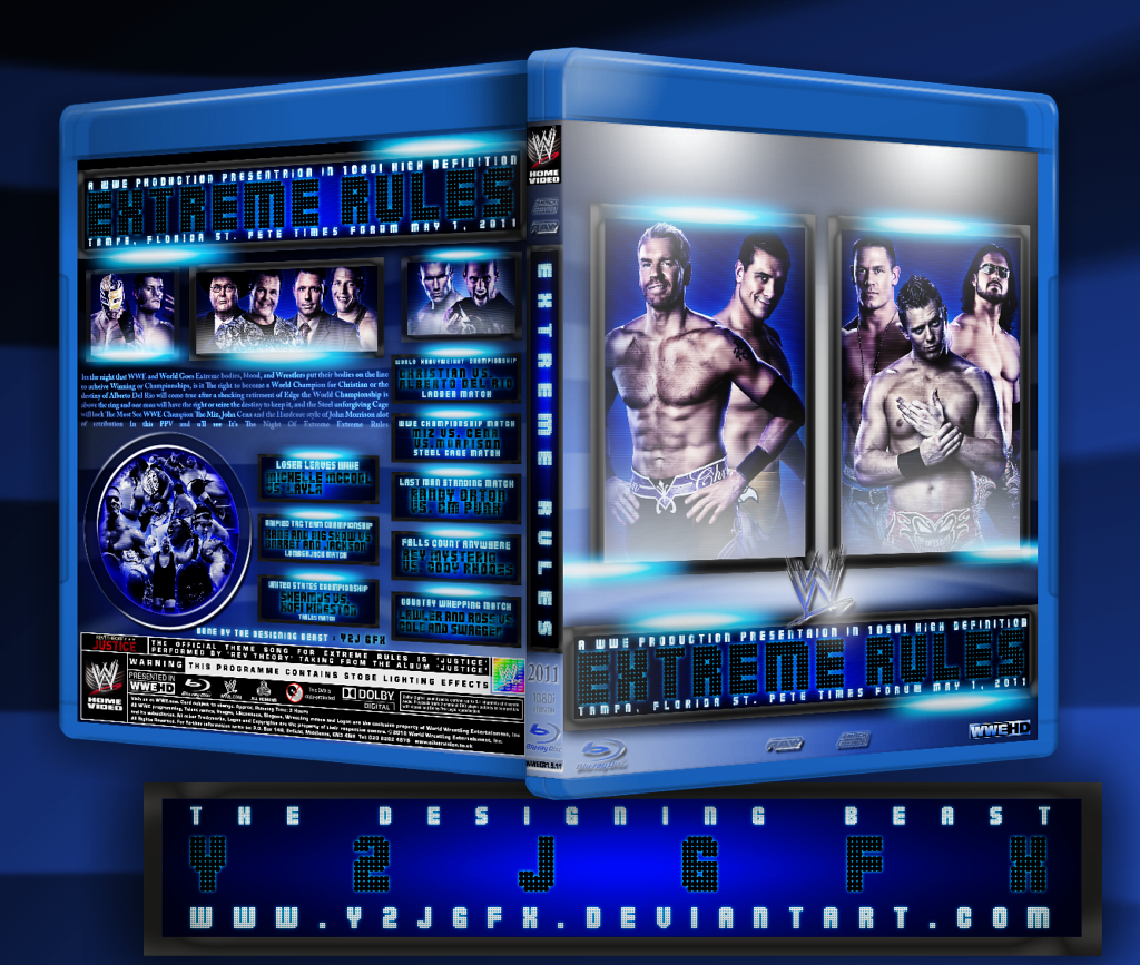 WWE Extreme Rules 2011 Cover by Y2JGFX