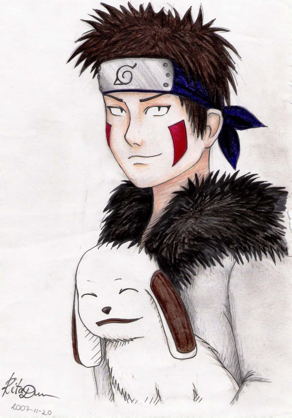 Kiba and Akamaru from Naruto Anime