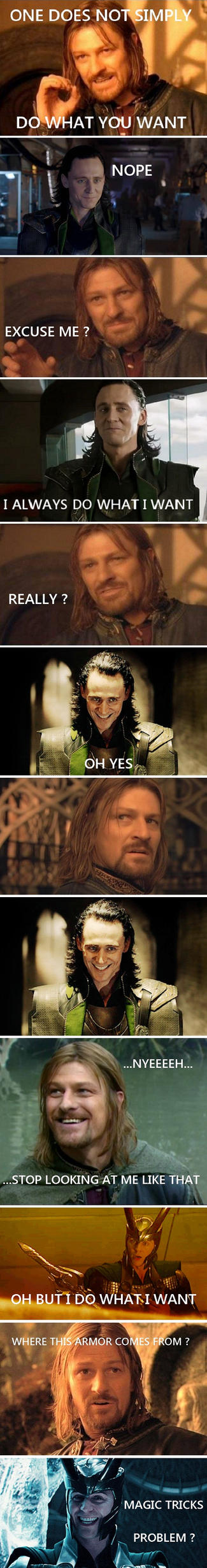 Boromir meet Loki ? by Blorosa