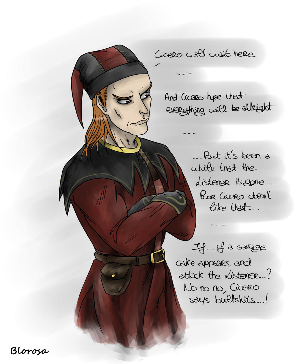 Poor Cicero is worried by Blorosa on DeviantArt