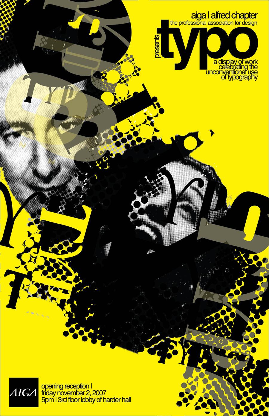 AIGA typo show poster
