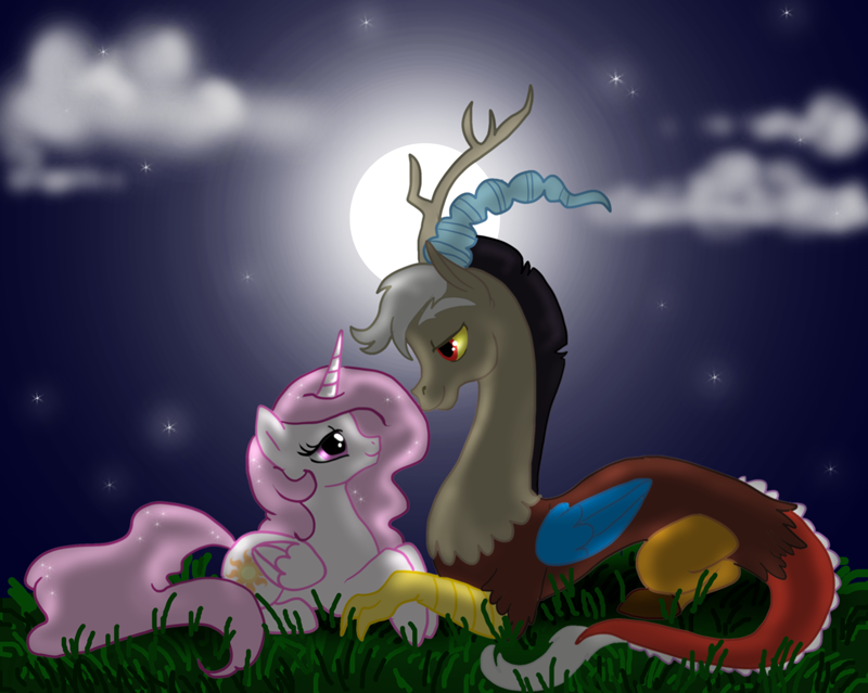 Celestia and Discord by nirac