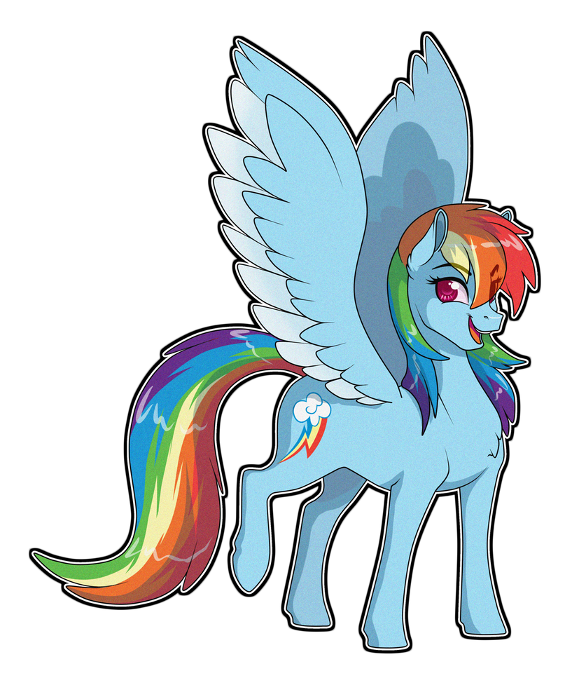 Rainbow-Dash by Sugarcup91