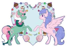 Fizzy and Firefly by Sugarcup91