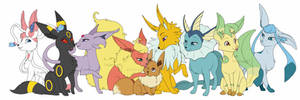 The whole eevee family