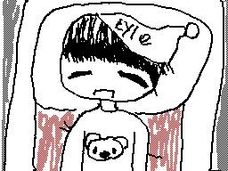 Kyle in his pajamas! - Fanart for Liztoonsewe by waterwaytm