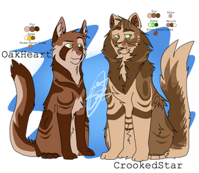   OakHeart and CrookedStar   #007 , #008 by PandichDESIGNS