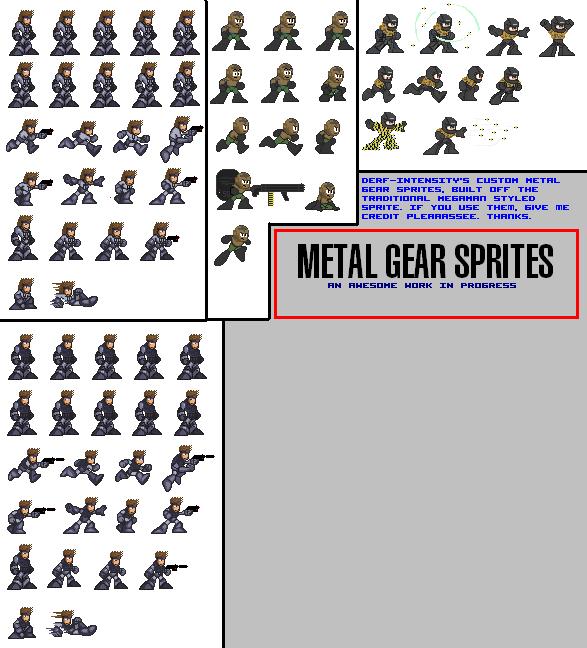 METAL GEAR SPRITES by dErF-iNtEnSiTy