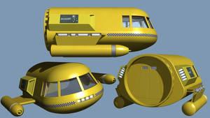 WIP Star Trek TOS-era civilian shuttle