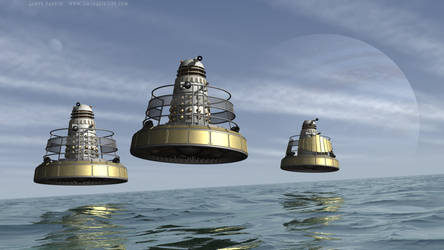 Imperial Hoverbouts Over A Strange Sea