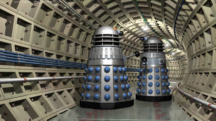 Daleks in an Underground Tunnel (1st revision)