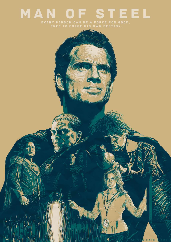 Man of Steel mockup movie poster by AJASC