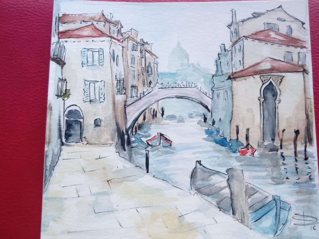 Venetia watercolor. by Dgarauz