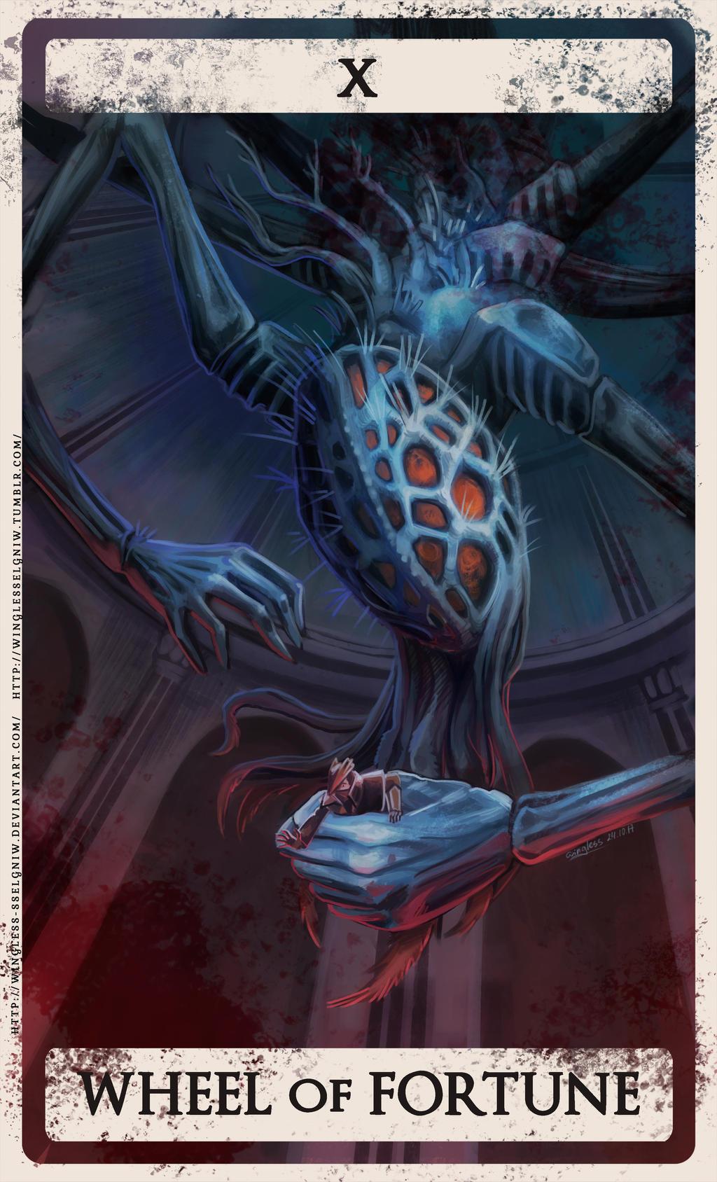 Tarot X The Wheel Of Fortune: Bloodborne Tarot X By Wingless-sselgniW On DeviantArt