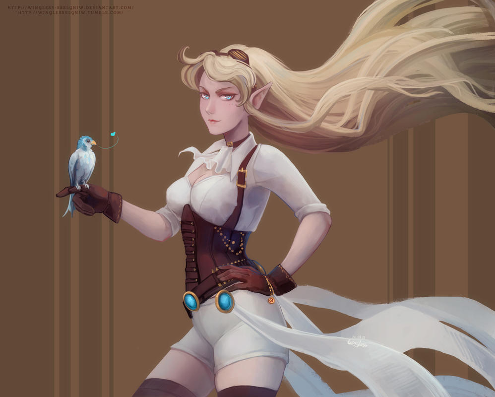 Hextech Janna and Zephyr by Wingless-sselgniW