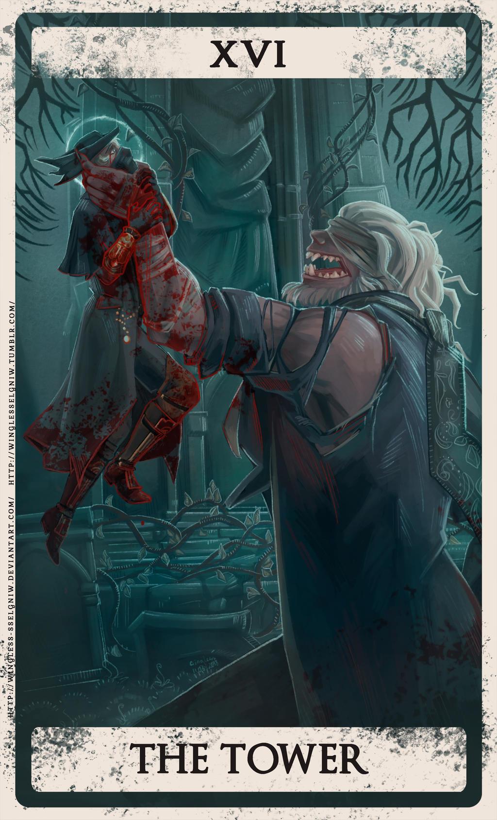 Bloodborne tarot XVI by Wingless-sselgniW