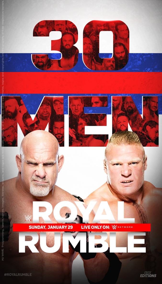 WWE Royal Rumble 2017 - Poster. by Erick11Editions
