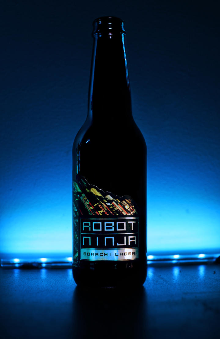 Robot Ninja Beer by tnpro