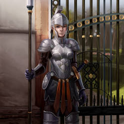 qeynos sentry guard by iwanaga