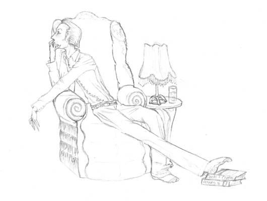 Draco Malfoy Lounging