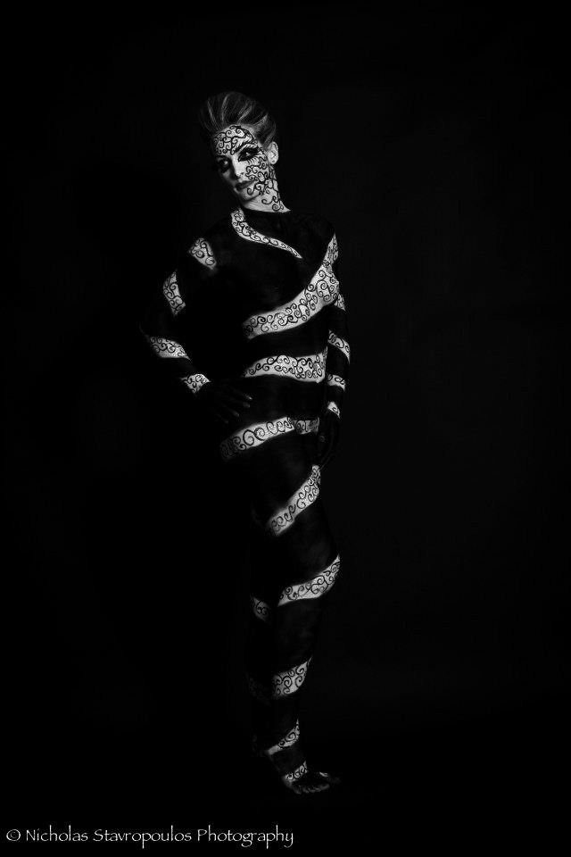 Black and white body paint by elizabethpetroumua