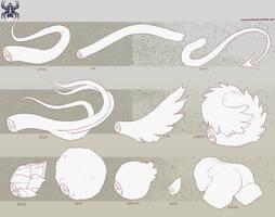 Plant-Fu Traits: Tails by KurokiKumo