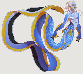 Ribbon Eel Merman (OPEN) by KurokiKumo