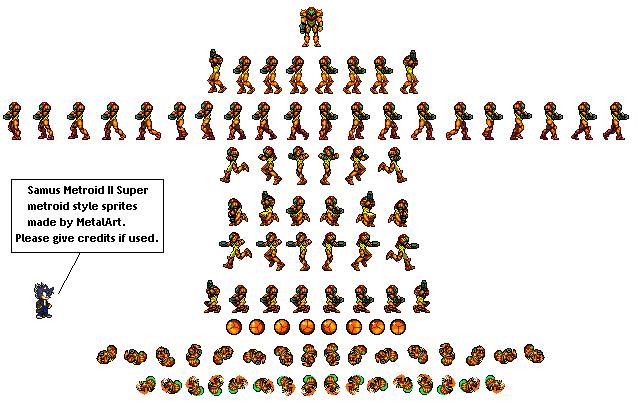 metroid enemies sprite sheet