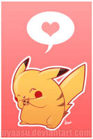 Pikachu has a cookie by Nyaasu