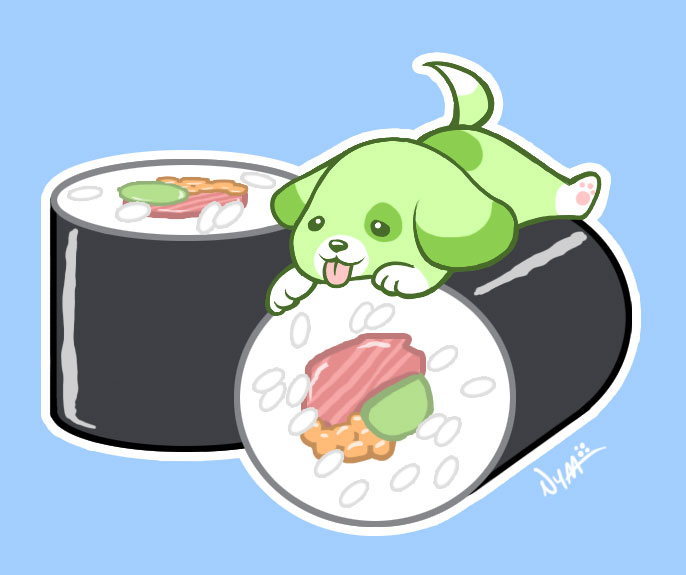 Sushi Tattoo by Nyaasu