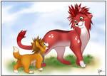 Sora + Axel - Aristocats World by Nyaasu