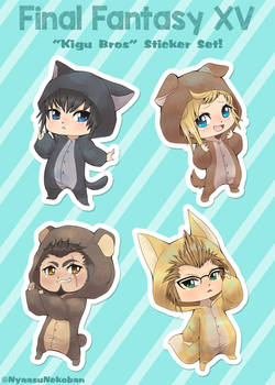 FFXV 'Kigu Bros' Stickers now available!
