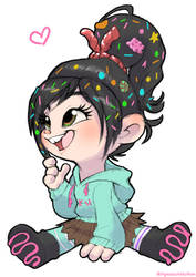 Vanellope Doodle by Nyaasu