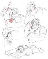 Wreck-it Ralph Doodles by Nyaasu