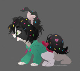 Vanellope Pupper Lineless Experiment by Nyaasu