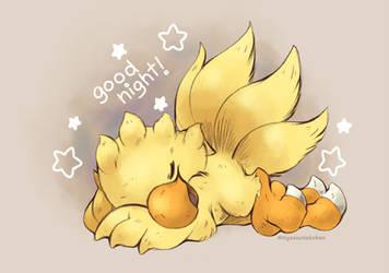 Sleepy Chocobo! by Nyaasu