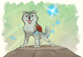 Hero of Time (Wolf Pup Form)