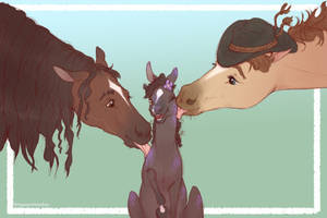Two Horse Dads and their Found Filly