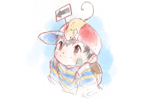 Ness and an Exit Mouse