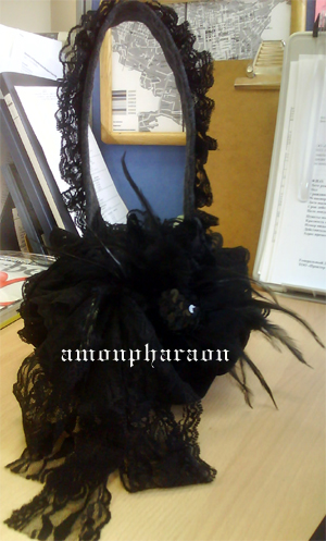 Gothic lolita pumpkin bag by amon-pharaon