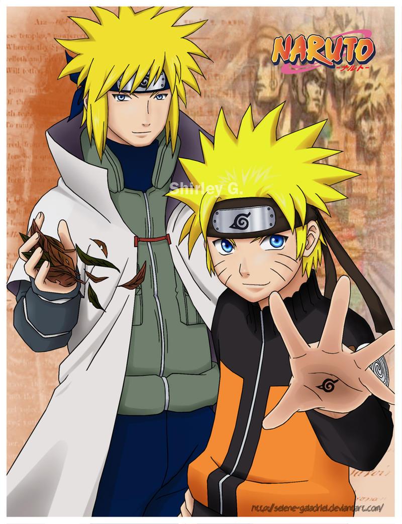 Naruto and Minato by Selene-Galadriel